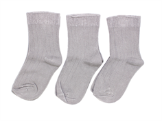 Minipop stockings stone gray (3-pack)