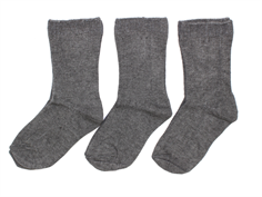 Minipop socks dark gray melange (3-pack)
