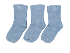 Minipop socks dusty blue (3-pack)