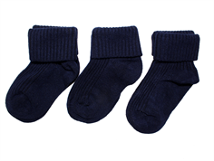 Minipop baby socks navy (3-pack)