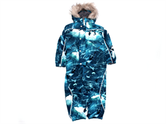 Molo snowsuit Polaris faux fur frozen ocean