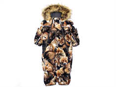 Molo snowsuit Pyxis faux fur fox camo
