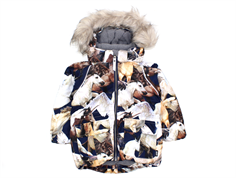 Molo winter jacket Cathy faux fur unicorn and pegasus