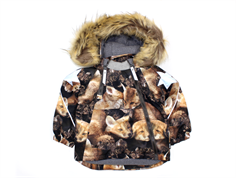Molo winter jacket Hopla faux fur fox camo