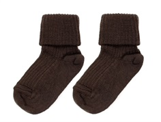 MP socks wool dark brown (2-Pack)