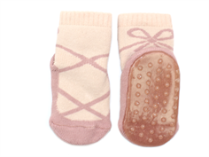 MP socks cotton rose dust with rubber soles