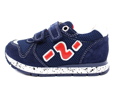 Naturino Bomba shoes navy blue/red with velcro