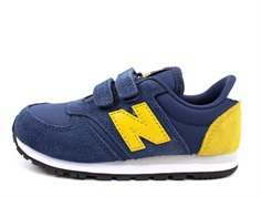 New Balance sneaker blue/yellow with Velcro