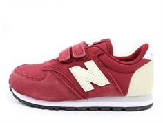 New Balance sneaker red/beige with Velcro