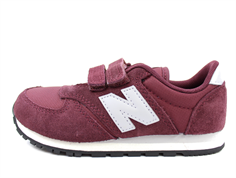 New Balance sneaker burgundy/gray with velcro