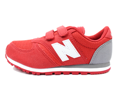 New Balance sneaker red/gray/white with velcro