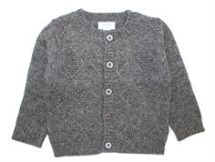 Noa Noa miniature cardigan wool dark gray melange