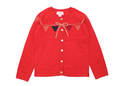 Noa Noa Miniature cardigan baby Castor ash rose red