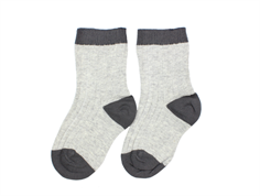 Noa Noa Miniature socks light gray melange