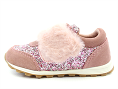 Petit by Sofie Schnoor sneaker dusty rose with glitter and faux fur