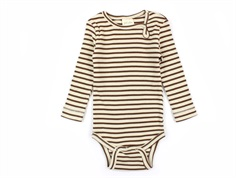 Petit Piao body modal bison brown/beige stripes