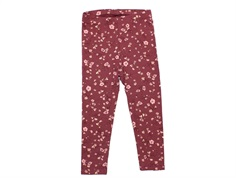 Soft Gallery leggings Paula oxblood red flowery