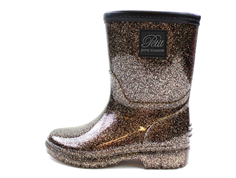 Petit by Sofie Schnoor winter rubber boot rose / black glitter