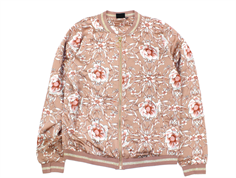 Petit by Sofie Schnoor bomber jacket caramel flower