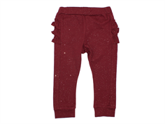 Petit by Sofie Schnoor pants dark red glitter