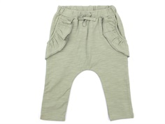 Petit by Sofie Schnoor trousers dusty green with ruffles