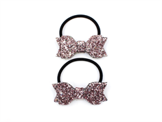 Petit by Sofie Schnoor hair elastics bow rose glitter (2-Pack)