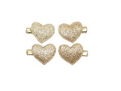 Petit by Sofie Schnoor barrettes heart champagne (4-pack)