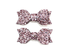 Petit by Sofie Schnoor hair clips bow rose glitter (2-Pack)