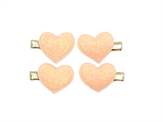Petit by Sofie Schnoor barrettes heart rose (4-pack)