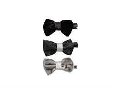 Petit by Sofie Schnoor hair clips bow black mix glitter (3 pieces)