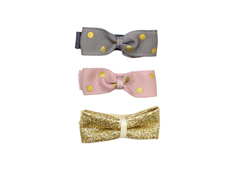 Petit by Sofie Schnoor hair clips bow mix gold dot (3 pieces)