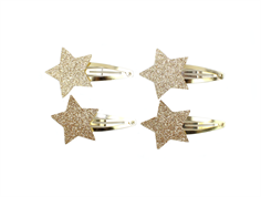 Petit by Sofie Schnoor barrettes star champagne (4 pieces)