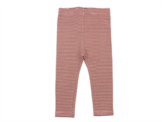 Petit by Sofie Schnoor leggings dusty rose stripes