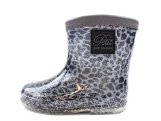 Petit by Sofie Schnoor rubber boot blue leopard glitter