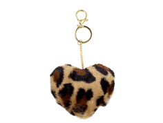 Petit by Sofie Schnoor keychain with heart charm rose leopard