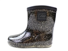 Petit by Sofie Schnoor winter rubber boot black gold glitter