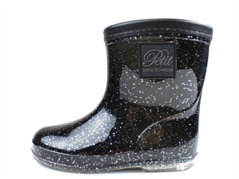 e70f99eacd9 Buy Petit by Sofie Schnoor winter rubber boot black glitter at MilkyWalk