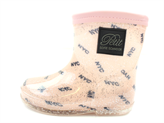 Petit by Sofie Schnoor rubber boot NYC glitter