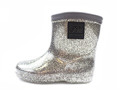 Petit by Sofie Schnoor winter rubber boot silver glitter