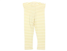 Petit Piao leggings modal yellow stripes