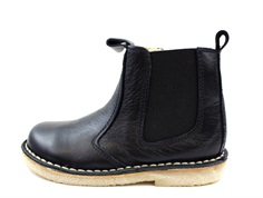 Pom Pom ancle boot black with elastic and zipper
