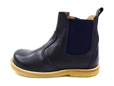 Pom Pom ancle boot navy with elastic