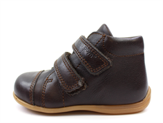 Pom Pom toddler shoe brown with velcro
