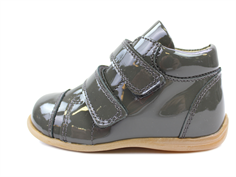 Pom Pom toddler shoe gray lacquer with velcro