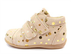 Pom Pom toddler shoe peach dot with velcro