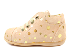 Pom Pom toddler shoe peach dot with laces