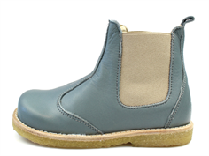 Pom Pom ancle boot ocean green with elastic
