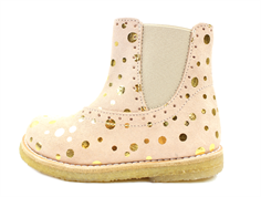 Pom Pom ancle boot peach dot with elastic