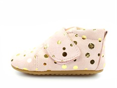Pom Pom slippers rose gold dot