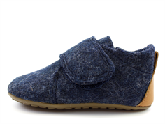 Pom Pom slippers navy wool